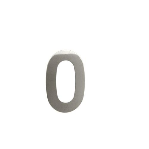 """Nerezové číslo ve 2D provedení, výška 145 mm, znak """"0"""""""