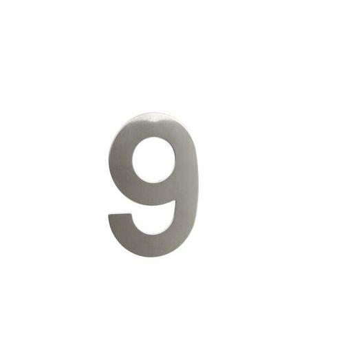 Nerezová čísloave 2D provedení, výška 145 mm