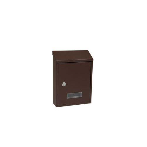 Kovová poštovní schránka Alabama, hnědá