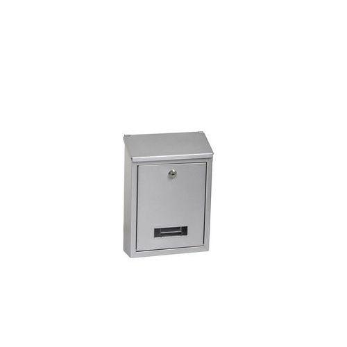 Kovová poštovní schránka Long, stříbrná
