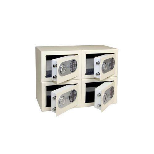 Sestava 4ks nábytkového trezoru s elektronickým zámkem, slonoviny