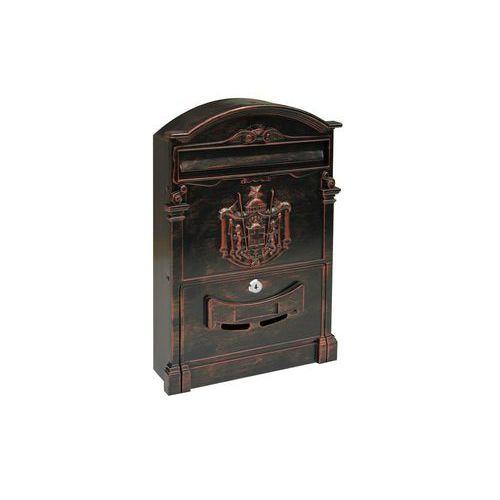 Kovová poštovní schránka Kuprit, červeno-černá