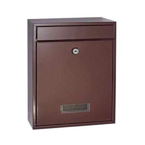 Kovová poštovní schránka Halit, hnědá