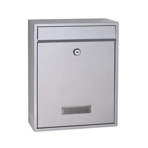Kovová poštovní schránka Halit, stříbrná