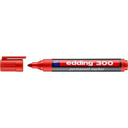 Permanentní popisovač Edding 300, červený