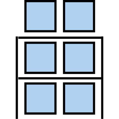 Paletový regál Cell, přístavbový, 210,6 x 180 x 110 cm, 5 200 kg