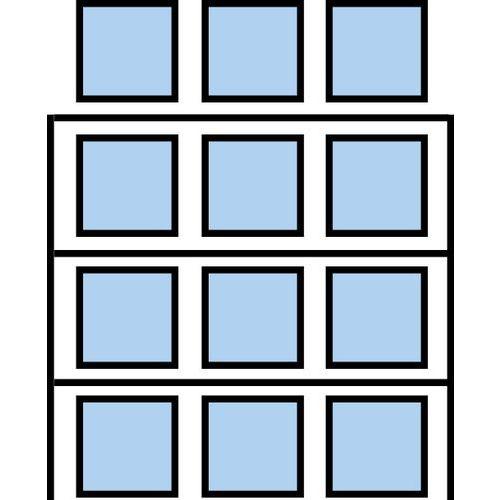 Paletový regál Cell, přístavbový, 399,6 x 270 x 75 cm, 7 800 kg,