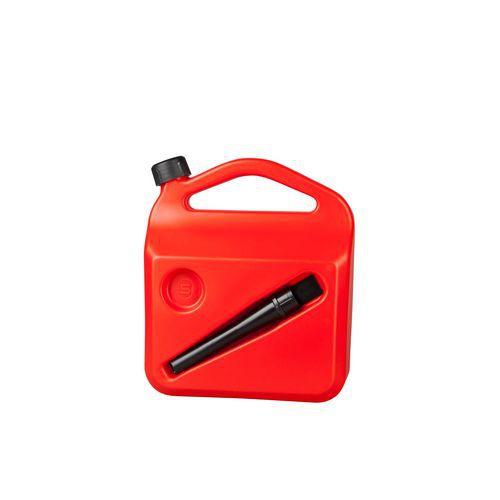 Kanystr na pohonné hmoty, červený, 5 l