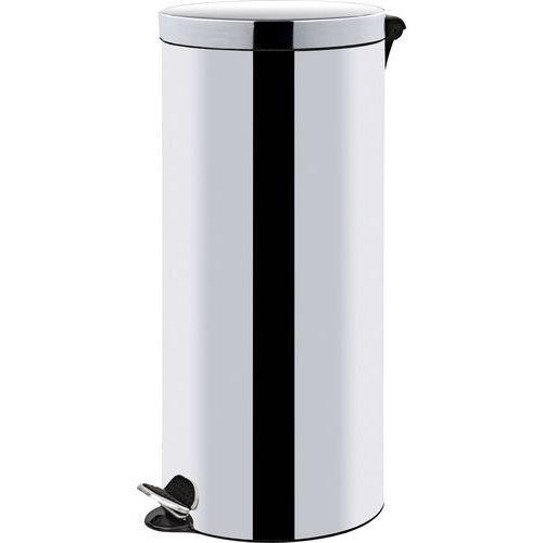 Alda Kovové odpadkové koše Basic, objem 30 l, Kapacita: 30 L, Materiál: lesklý nerez, Barva: Šedá/st