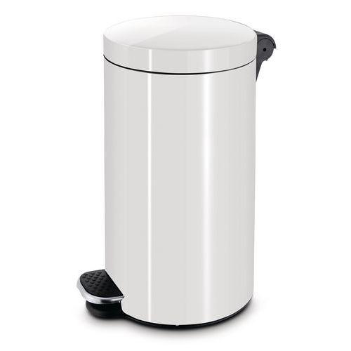 Kovové hygienické odpadkové koše Antiseptic, bílé, Kapacita: 30