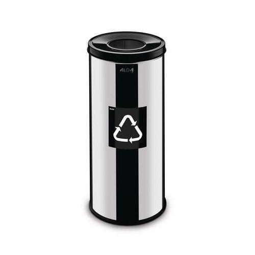 Kovové odpadkové koše Prestige EKO na tříděný odpad, objem 45 l,