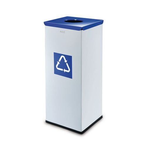 Kovový odpadkový koš EKO Square na tříděný odpad, objem 60 l, mo