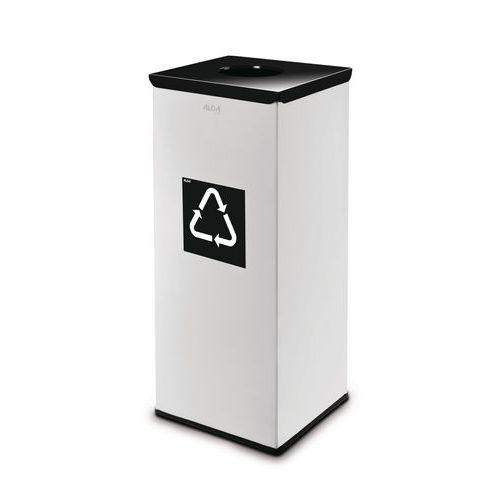 Kovový odpadkový koš EKO Square na tříděný odpad, objem 60 l, če