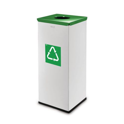 Kovové odpadkové koše EKO Square na tříděný odpad, objem 60 l, K