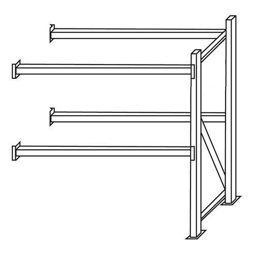 Paletový regál, přístavbový, 210,6 x 180 x 110 cm, 5 200 kg, 3 p
