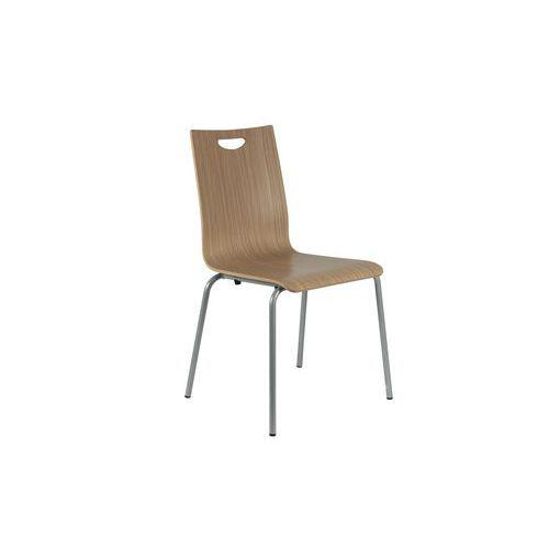 Dřevěná jídelní židle Lily, světlé zebrano