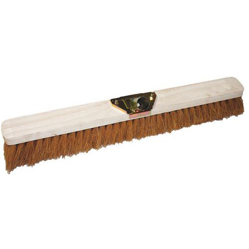 Dřevěný smeták Manutan Long bez tyče, 100 cm