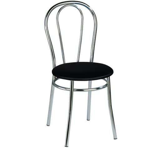 Jídelní židle Anett Chrom, černá - Prodloužená záruka na 10 let