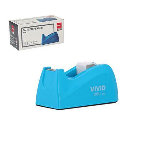 Odvíječ lepící pásky stolní DELI do 18mm, modrý