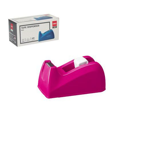 Odvíječ lepící pásky stolní DELI do 18mm, růžový