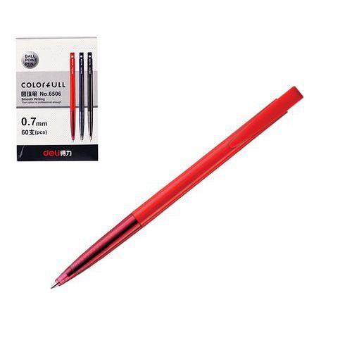 Propiska jednorázová DELI, červená, 60ks
