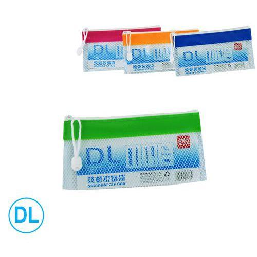 Obal spisový se zipem DELI síťovaný DL, PVC, mix, 12ks