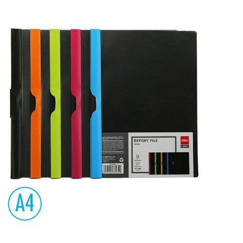 Desky na spisy DELI BLACK CLIP, mix, 5ks