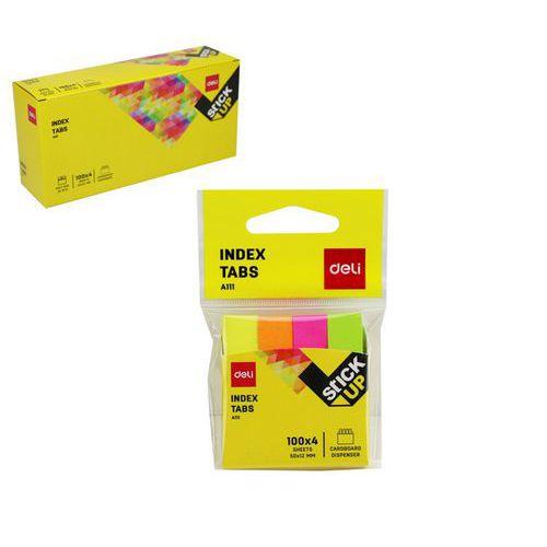 Záložky DELI STICK UP mini set 50 x 12mm