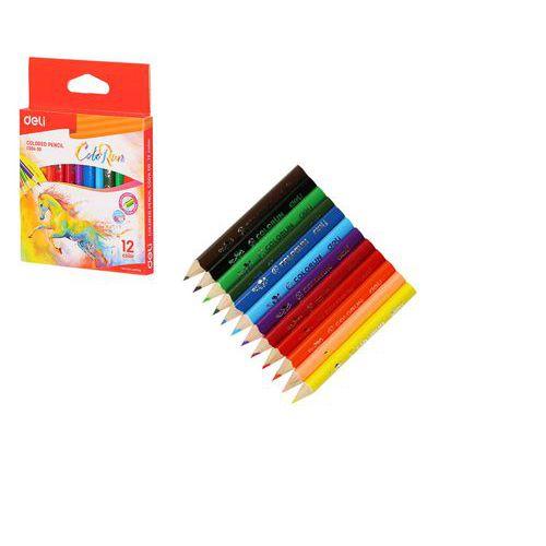 Pastelky DELI trojhranné ColoRun 12 barev mini