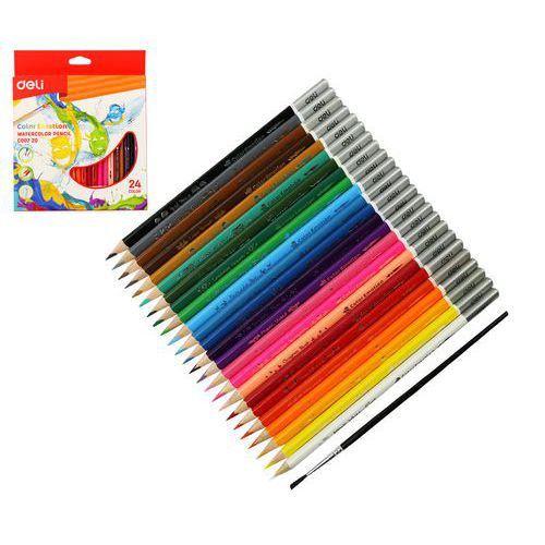 Pastelky DELI aquacolor 24 barev Color Emotion