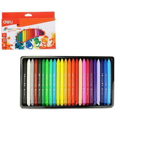 Pastely plasticolor DELI 24 barev Color Emotion