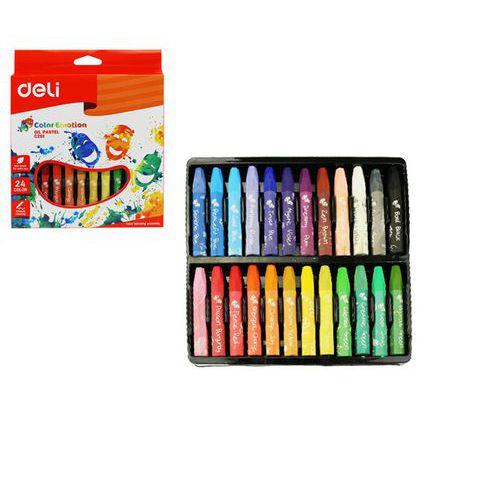 Voskovky olejové DELI 24 barev Color Emotion