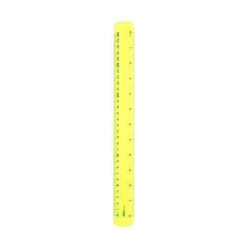 Pravítko DELI 30cm PIONEER FLUO, žluté
