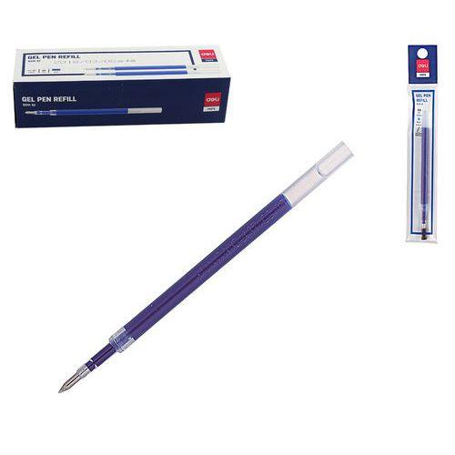 Náplň do gelového pera DELI 0,5mm, modrá, 20ks