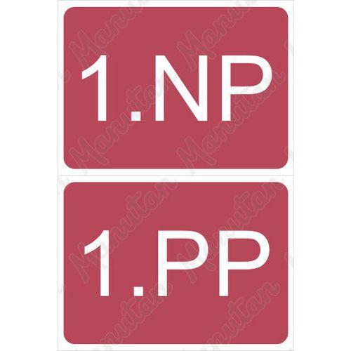 Označení podlaží - poschodí, plast 210 x 148 x 0,5 mm A5 1PP/1NP