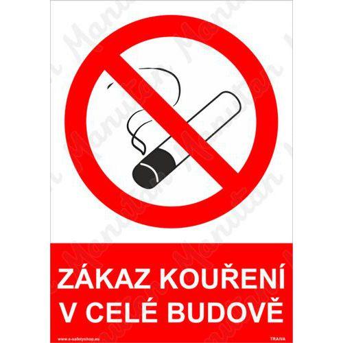 Zákaz kouření v celé budově, samolepka 210 x 297 x 0,1 mm A4