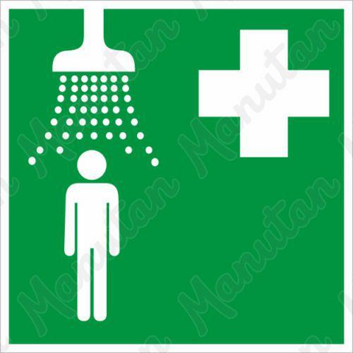 Zdravotnická sprcha, plast 150 x 150 x 1,1 mm, fotoluminiscenční