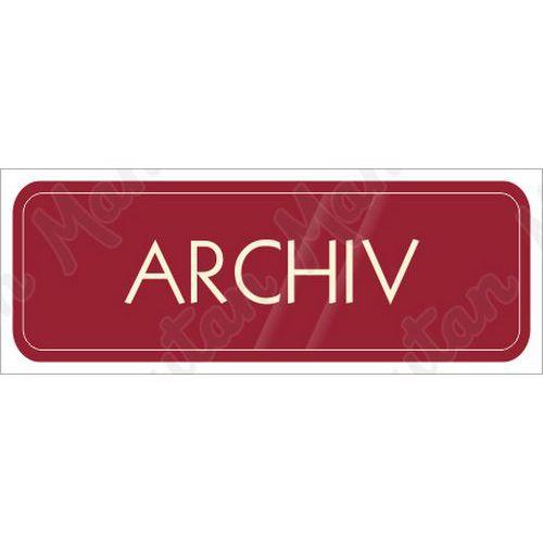Archiv, samolepka 200 x 70 x 0,1 mm, červená