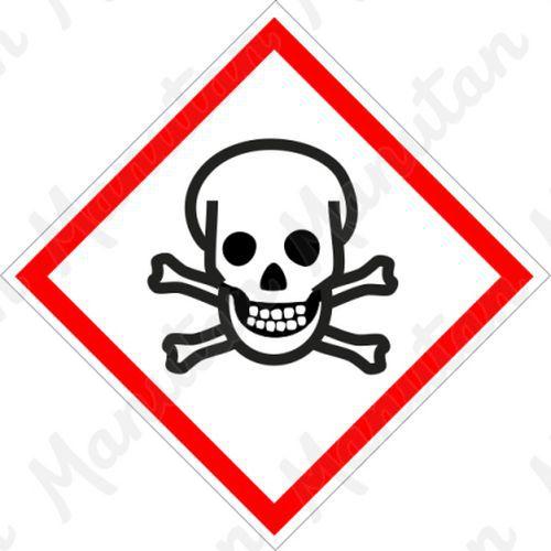 Toxické č.06, samolepka 52 x 52 x 0,1 mm, arch 20 ks