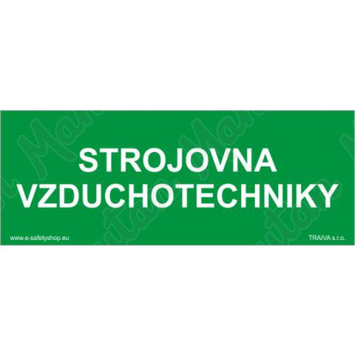 Strojovna vzduchotechniky, samolepka 210 x 80 x 0,1 mm