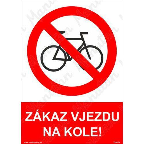 Zákaz vjezdu na kole, samolepka 210 x 297 x 0,1 mm A4
