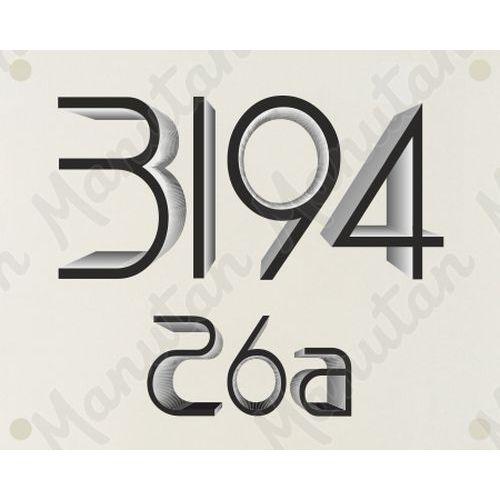Domovní číslo vlastní návrh, plast 210 x 148 x 2 mm A5