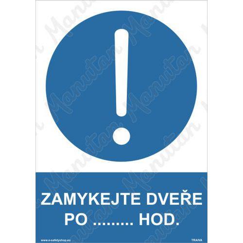 Zamykejte dveře po h, plast 210 x 297 x 0,5 mm A4