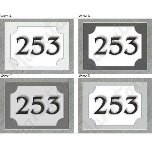 Domovní číslo, plast 210 x 148 x 2 mm A5, kámen verze C