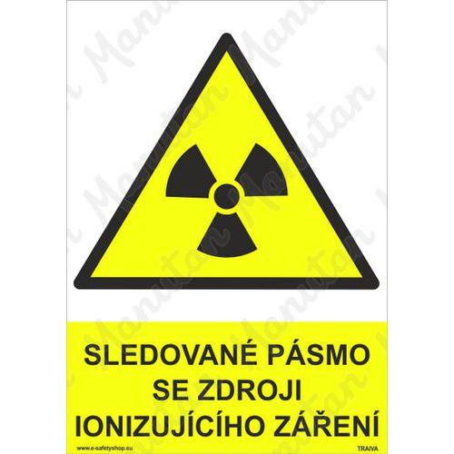 Sledované pásmo se zdroji ionizujícího záření, plast 297 x 420 x
