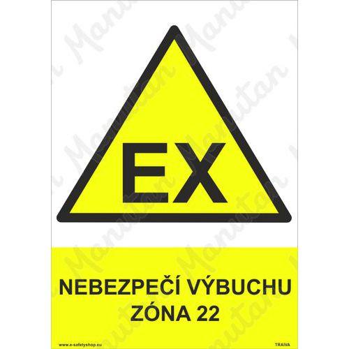 Nebezpečí výbuchu zóna 22, plast 148 x 210 x 0,5 mm A5