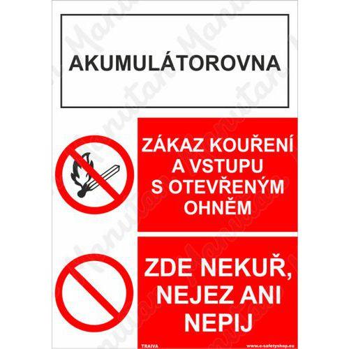 Akumulátorovna zákaz kouření, plast 148 x 210 x 0,5 mm A5