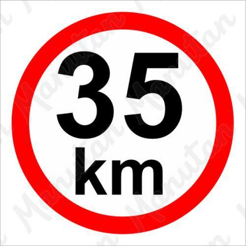 Omezení rychlosti 35 km/h, samolepka 210 x 210 x 0,1 mm