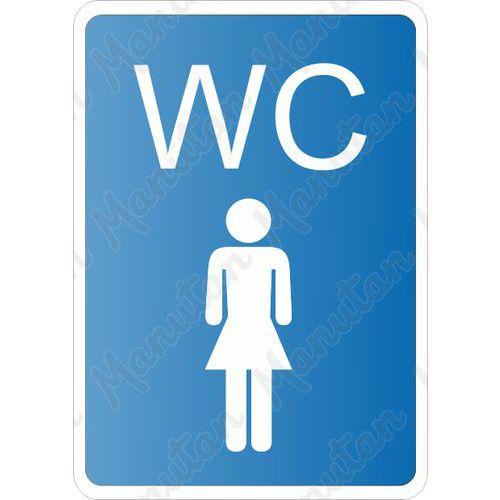 WC ženy, plast 105 x 148 x 0,5 mm A6