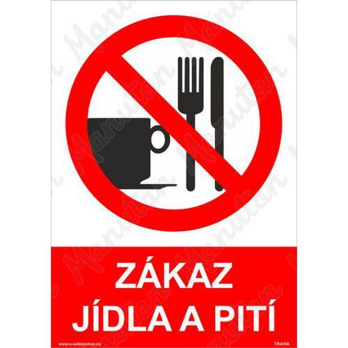 Zákaz jídla a pití, plast 210 x 297 x 2 mm A4